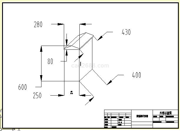 电动卷帘门正反转控制电路cad图
