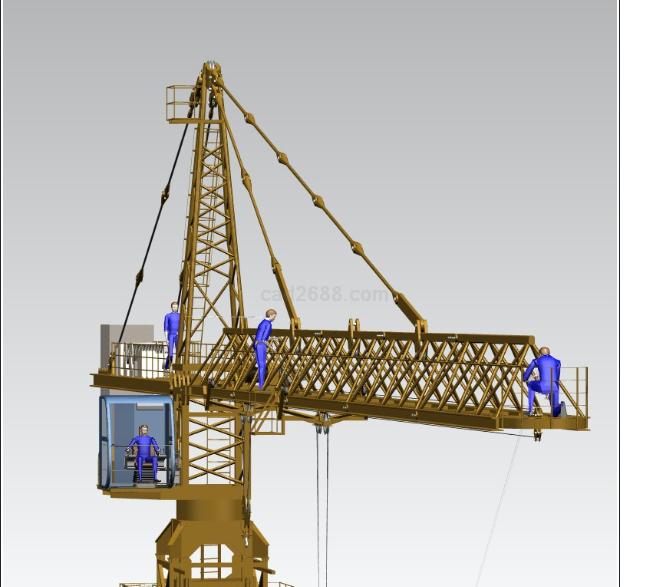 手工塔吊模型制作纸