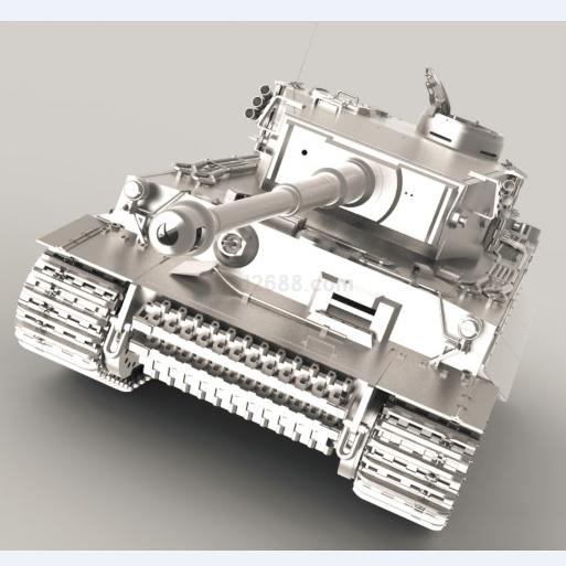 虎式坦克cad图纸_虎式坦克模型Step/iges/stl格式